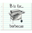 Flashcard letter B is for barbecue vector image