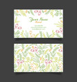 business card template with floral pattern vector image