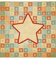 Retro Christmas Star Background vector image vector image