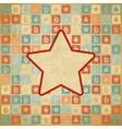 Retro Christmas Star Background vector image