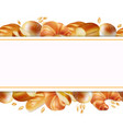 bakery products banner horizontal vector image