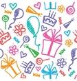 Birthday pattern vector image