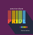 gay pride poster rainbow spectrum flag vector image