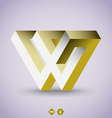 Imposible W letter vector image