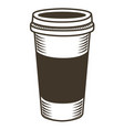isolated coffee sketch vector image