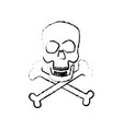 skull crossed bones danger poison symbol medical vector image