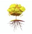 Tree With Root Retro Cartoon vector image