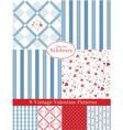 Vintage Patterns set vector image