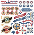 Vintage arrows - icons and symbols collection vector image vector image