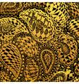 Floral doodle tattoo design vector image