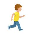 faceless young boy runs isolated vector image