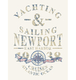 Newport yachting and sailing vector image vector image