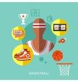 basketball infographic vector image
