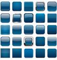 Square dark blue app icons vector image