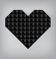 Black retro heart triangle abstract love valentine vector image