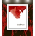 blood stains blood splatter vector image