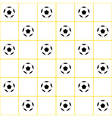 Football Ball Yellow Grid White Background vector image