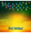 Abstract holydays background with Christmas lights vector image