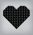 Black retro heart triangle abstract love valentine vector image