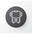 bus icon symbol premium quality isolated vector image