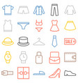 clothing icons set vector image