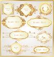 decorative golden ornate elements vector image