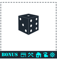 Dice icon flat vector image