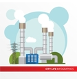 Geothermal power station Colorful in vector image