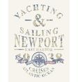 Newport yachting and sailing vector image