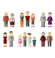 set of flat family vector image