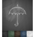 umbrella icon Hand drawn vector image