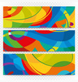 Abstract colorful banners on transparent Modern vector image vector image