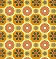 Vintage Floral Orange pattern vector image