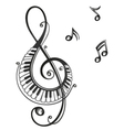clef music music notes vector image