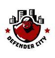 logo of the city counsel superman monster big vector image