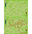 Love maze vector image vector image