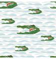 seamless crocodile vector image