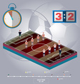 Football Stadium Playfield Side View vector image