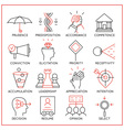 Human resource management icons - 4 vector image