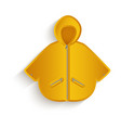 cartoon yellow raincoat isolated vector image