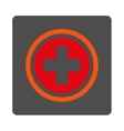 Circled Cross Rounded Square Button vector image