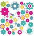 colors gears symbols icon vector image