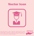 graduate hat avatar symbol icon college or vector image