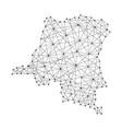 map of democratic republic of congo from polygonal vector image