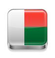 Metal icon of Madagascar vector image