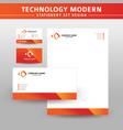 technology modern stationery set design vector image