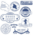 Essex county New Jersey stamps and seals vector image