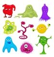 cartoon evil bacteria germs Angry vector image