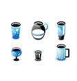 Glossy drinks and beverages icon set vector image vector image