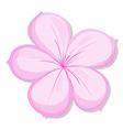 A five-petal pink flower vector image vector image